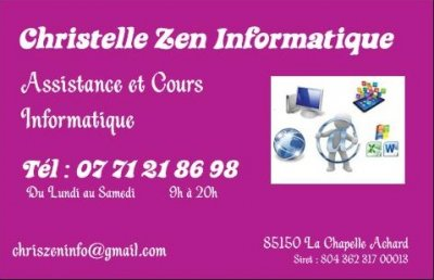 Assistance, cours informatique La Chapelle Achard SERVICES